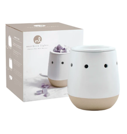 Northern Lights Electric Wax Melt Warmers - Matte White & Natural Ceramic