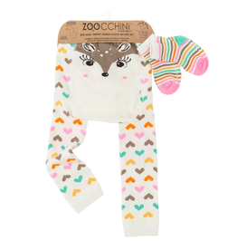 Zoocchini Fawn Crawler Legging & Sock Set