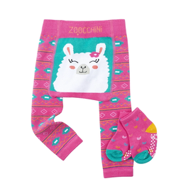 Zoocchini Llama Crawler Legging & Sock Set