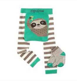 Zoocchini Sloth Crawler Legging & Sock Set