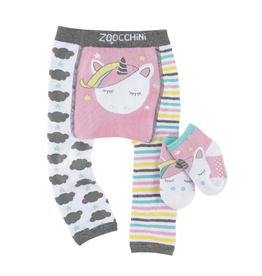 Zoocchini Unicorn Crawler Legging & Sock Set
