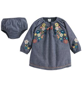 Mud Pie Chambray Embroidery Dress, 4 Years