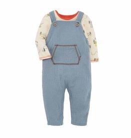 Mud Pie Dino Overall  Set