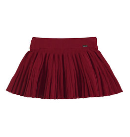 Mayoral Baby Girl Pleated Knit Skirt (Red)