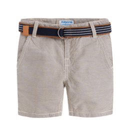 Mayoral Boy Striped Shorts w Belt (Gypsum) 4 Years