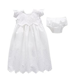 Mud Pie Eyelet Christening Gown Set