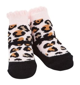 Mud Pie Black Leopard Socks (0-12 Months)