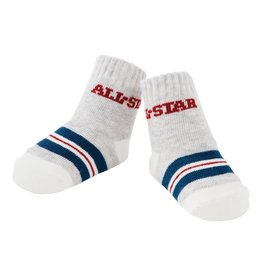 Mud Pie All Star Stripe Socks (0-12 Months)