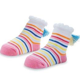 Mud Pie Color Tassel Stripe Socks (0-12 Months)