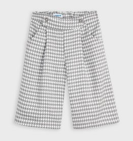 Mayoral Girl Plaid Culotte Pants (Steel)