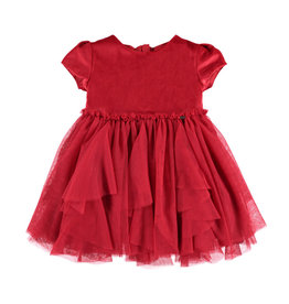 Mayoral Layered Voile Dress (Red)