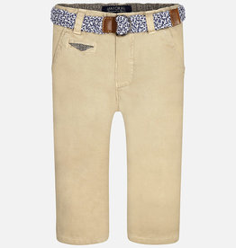 Mayoral Long Trousers With Belt (Beige)