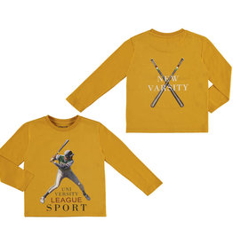 Mayoral Varsity Long Sleeve T-Shirt (Mustard)
