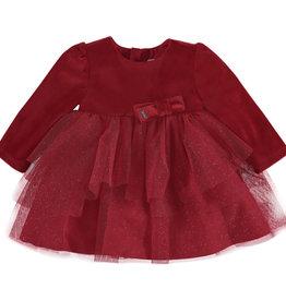 Mayoral Velvet Tulle Dress (Scarlet)