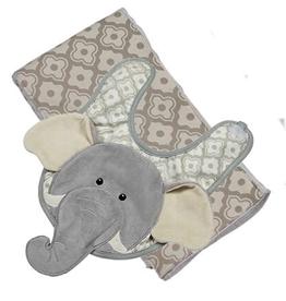 Maison Chic Emerson The Elephant Boxed Bib & Burp Gift Set