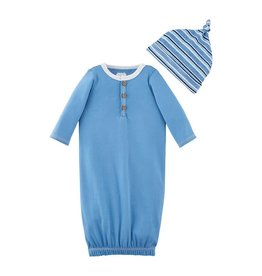 Mud Pie Blue Henley Take-Me-Home Set