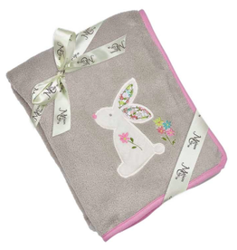 "Maison Chic Beth the Bunny Plush Blanket, 29"" x 40"""