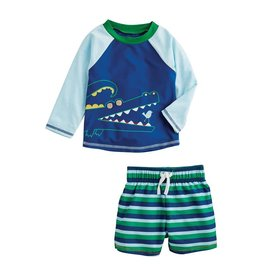 Mud Pie Alligator Rash Guard Set