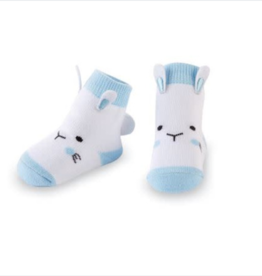 Mud Pie Blue Bunny Socks, 0-12 Months