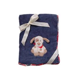 Maison Chic Max the Puppy Plush Blanket
