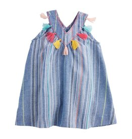 Mud Pie Chambray Tassel Dress