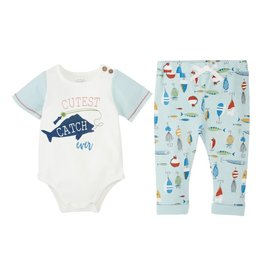 Mud Pie Cutest Catch 2 Pc Set