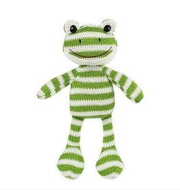 Freckles the Frog Knit Rattle