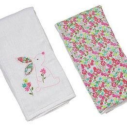 Beth the Bunny Double Burp Cloth Gift Set (3)
