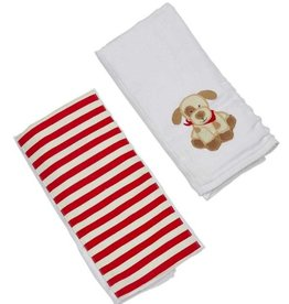 Max the Puppy Double Burp Cloth Gift Set