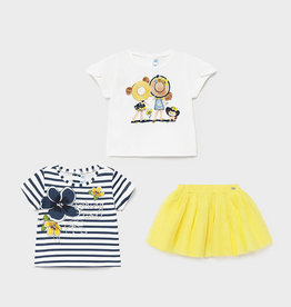 Mayoral 'Bonnet Friends' 3-Piece Skirt Set