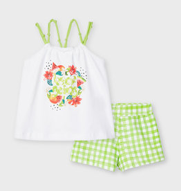 Mayoral 'Keep Going' Watermelon Short Set