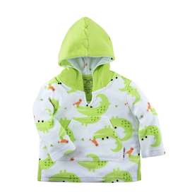 Zoocchini Alligator Baby Terry Swim Coverup, 0-12 Months