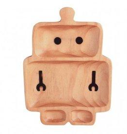 PETITS ET MAMAN/Kids Wood Plate - Robot