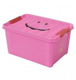 SMILE STORAGE BOX/Kids - Pink, Medium