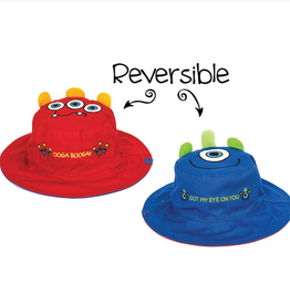 Flapjack Kids Reversible Monsters Sun Hat - Small (6M-24M)