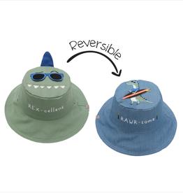 Flapjack Kids Reversible Dino/Surfer Sun Hat
