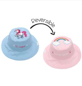 Flapjack Kids Reversible Rainbow/Unicorn Sun Hat - Small (6M-24M)