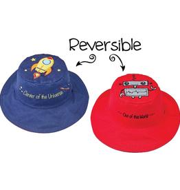 Flapjack Kids Reversible Spaceship/Robot Sun Hat