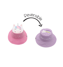 Flapjack Kids Reversible Unicorn/Star Sun Hat