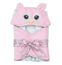 Bearington Lil' Hoots Pink Owl Towel