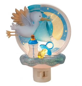 Baby Boy Stork Night Light