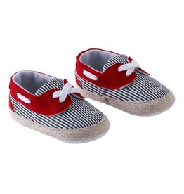 Red/Blue Stripe Boys Shoes