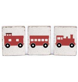 Train Bundle, Rustic Blocks