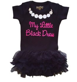 Little Black Dress Onesie with Tutu
