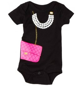 Pink Bag with Pearls Onesie