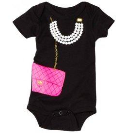 Pink Bag with Pearls Onesie