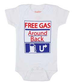 Free Gas Around Back Onesie