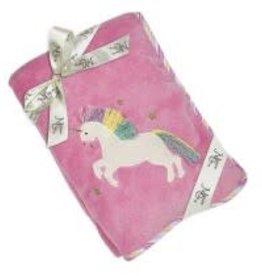 "Maison Chic Trixie the Unicorn Plush Blanket, 29"" x 40"""
