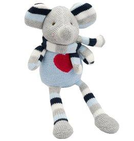 """Elegant Baby Knittie Bittie Doll - 10"""" Elephant Navy"""