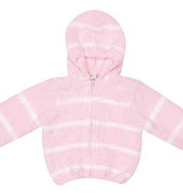 Angel Dear Pretty Pink/Ivory Chenille Hoodie 12M